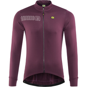 Alé Cycling Solid Color Block Longsleeve Jersey Heren, amarone red